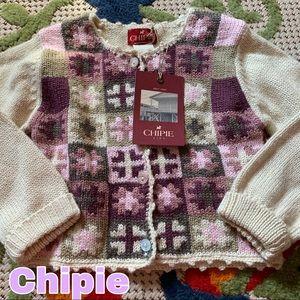 Chipie girls size 3 cardigan sweater NEW NWT